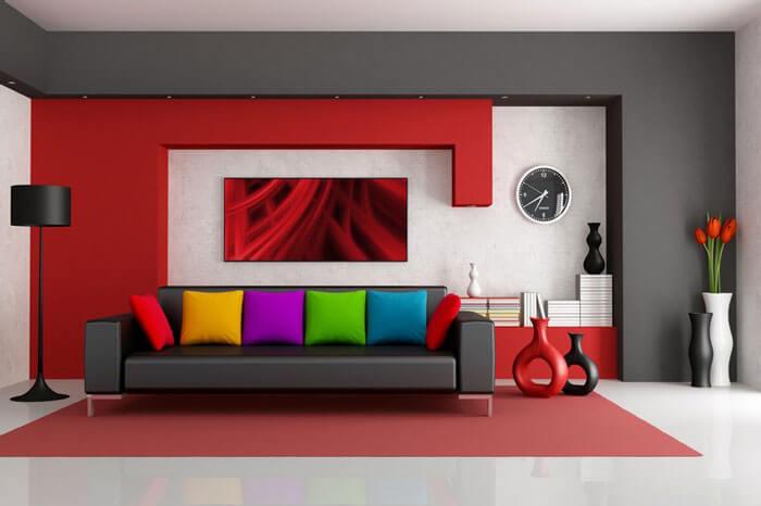 رنگ های طراحی دکوراسیون