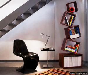 طراحی و اجرای کتابخانه منزل