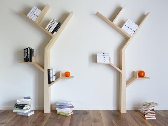 کتابخانه منزل با استفاده از بهترین چوب ام دی اف