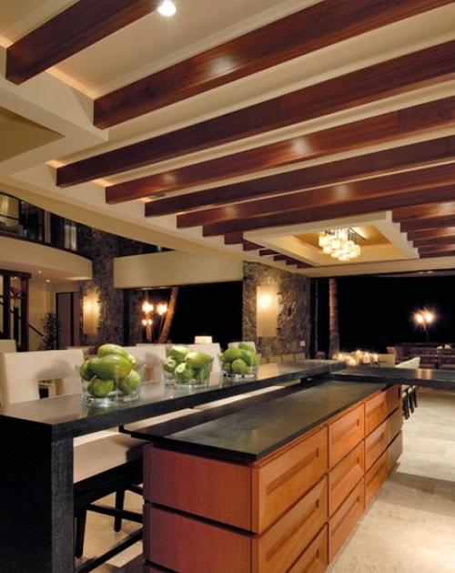 سقف کاذب با چوب